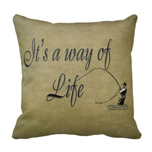 Fly Fishing Gifts Quote Home Decor A Way Of Life Cushion Cover Letter Throw Pillow