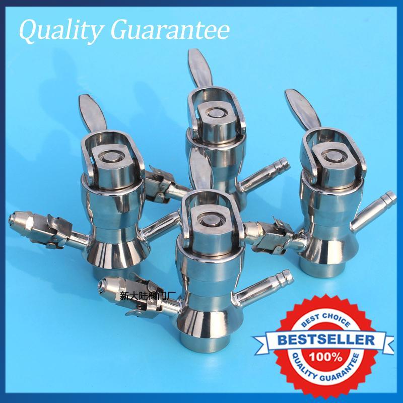 Welded  DN19 Sanitary Sample Valve Aseptic Full Stainless Steel Sample Valve Food Grade Valve 1 5 2 ss304 sanitary clamp brewing sample valve ss sampling valve for brewing