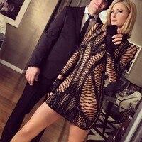 wholesale 2019 New dress black long sleeve Sequins Fashion elegance Celebrity leisure woman celebrity party dress (H2205)