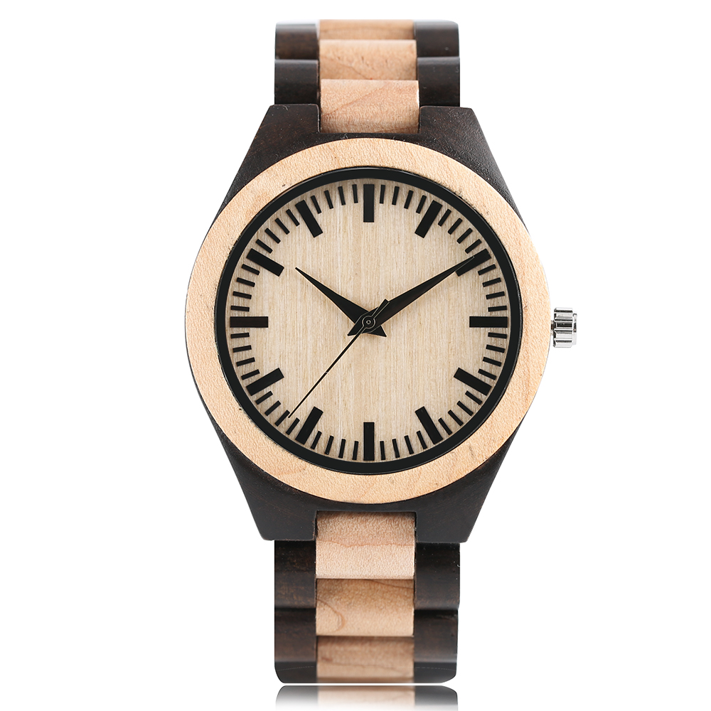 Fashion Analog Full Wooden Bamboo Women Creative Watches Novel Nature Wood Men Bangle Quartz Wrist Watch 2018 New Arrival handmade full bamboo wooden wrist watch beautiful woman simple timber quartz ladies watches nature wood fold clasp bangle clock