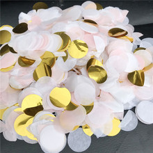 10g/pack 2.5cm Round Tissue Paper Confetti Mix Color For Birthday Party Wedding Decoration Clear Bubble Balloons Filler Confetti