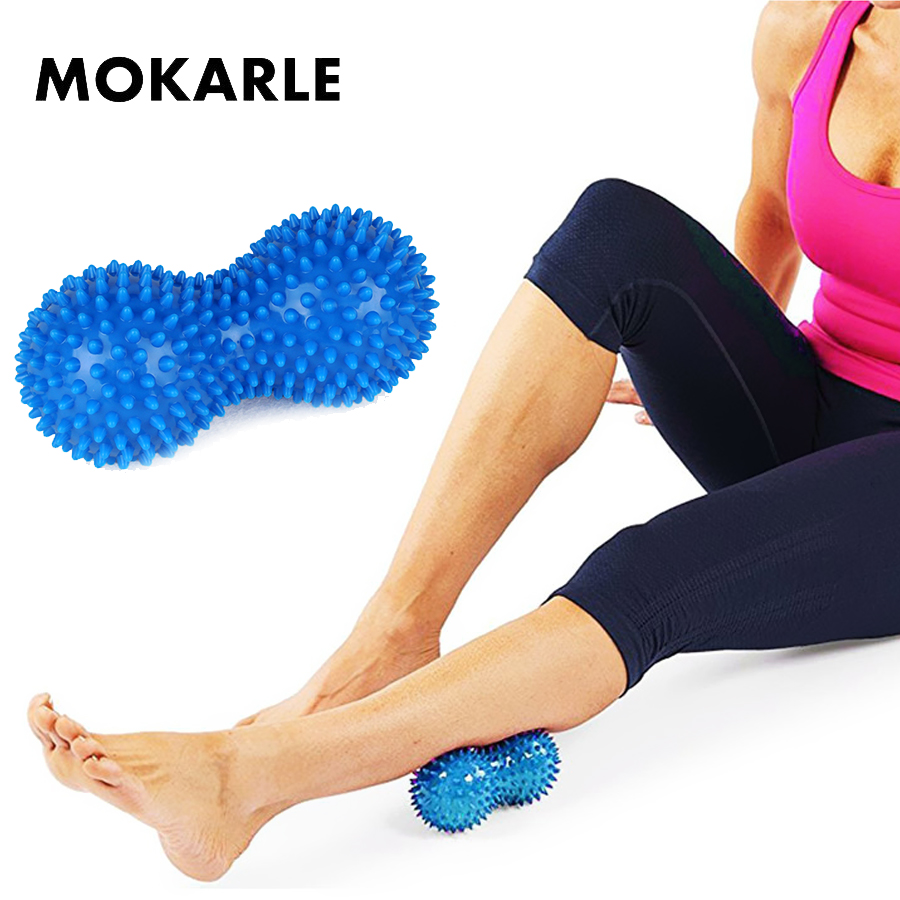 US $4 46 10% OFF|Peanut Massager Acupressure Trigger Point Roller Massage  Muscle Relief Pain Yoga Spiky Ball Muscle Recovery Training Ball Relax-in