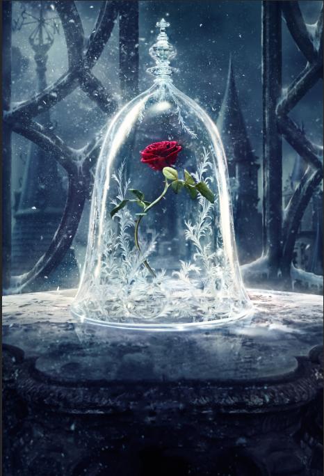 Prix pour 5x7FT Beauté Bête Rose Fleurs Cage Château Personnalisé Photo Studio Décors Milieux Bannière de Vinyle 220 cm x 150 cm