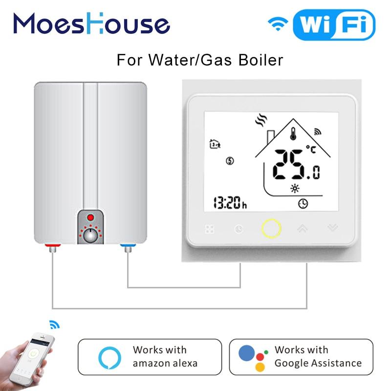 Controlador de Temperatura do Termostato inteligente Wi-fi Inteligente Vida APP Controle Remoto para Caldeira De Gás De Água Funciona com Alexa Inicial do Google