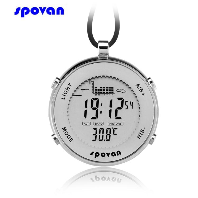 SPOVAN Pocket Watch Mini Waterproof Swit Sensor Digital Track Fishing Barometer Altimeter Thermometer Multifunction Watch Clock цены