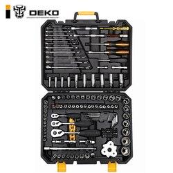 DEKO 140 Pcs Profissional Conjunto de Ferramentas de Reparo Do Carro Auto Chave Catraca Chave de Fenda do Soquete Ferramentas de Mecânica Kit W/Blow- caixa de moldagem