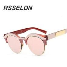 RSSELDN Summer Fashion Round Sunglasses Brand Designer Women Multi color Points Mirror SunGlasses Shades Oculos de Sol Feminino
