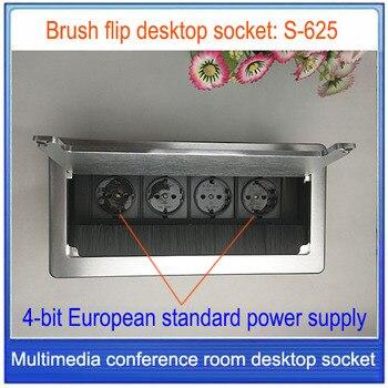 Enchufe europeo/enchufe de escritorio/enchufe de aleación de aluminio, toma de corriente estándar europea/Toma de sobremesa/toma de corriente personalizada S-625