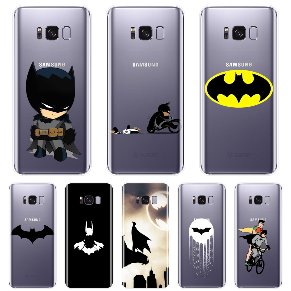 Back Cover For Samsung Galaxy S8 S9 Plus S5 S6 S7 Edge DC Marvel Batman Silicone Soft Phone Case For Samsung Galaxy Note 9 8 5 4 image