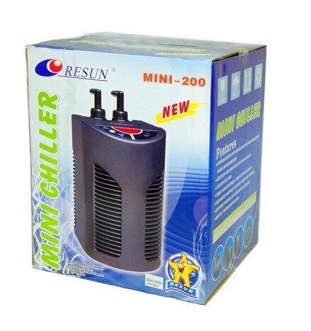 RESUN MINI200 agregatu chłodniczego. 1/10HP Mini zimnej wody chłodnica MINI 200 mały niski poziom hałasu zbiornik na ryby chłodnica wody w Filtry i akcesoria od Dom i ogród na  Grupa 1
