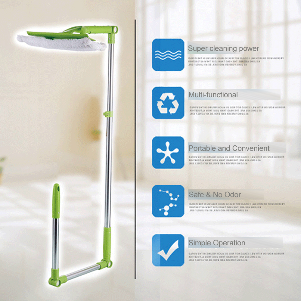 Double-sided Telescopic Window Cleaner High-rise Sponge Mop Glass Window Mop Multi Window Dust Brush Washing Cleaner