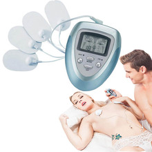 Hot Electric Slimming body Massager Pulse Muscle Pain Relief Fat Burnning Relaxation Health Care Massage 4 Pads pain fitness