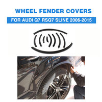 PU Bright black Narrow Auto Ferry Eyebrow Strip Fender Flares Wheel Trims Arch Lip Covers For Audi Q7 RSQ7 Sline 2006 2015