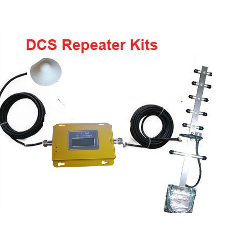 Econonic Option DCS 1800Mhz Booster Kits W/ 10dbi Yagi Antenna+15M Of Cable,DCS Repeater Kits 1800Mhz Signal Amplifier
