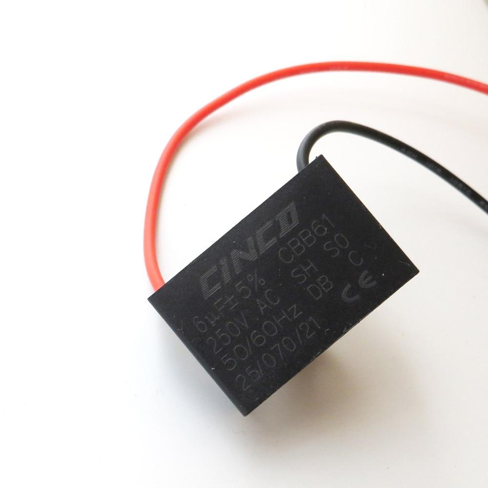 6uf 250v ac cbb61 2 wires motor run capacitor ceiling speed electric fanner ventilators exhaust fan capacitor start [ 1000 x 1000 Pixel ]