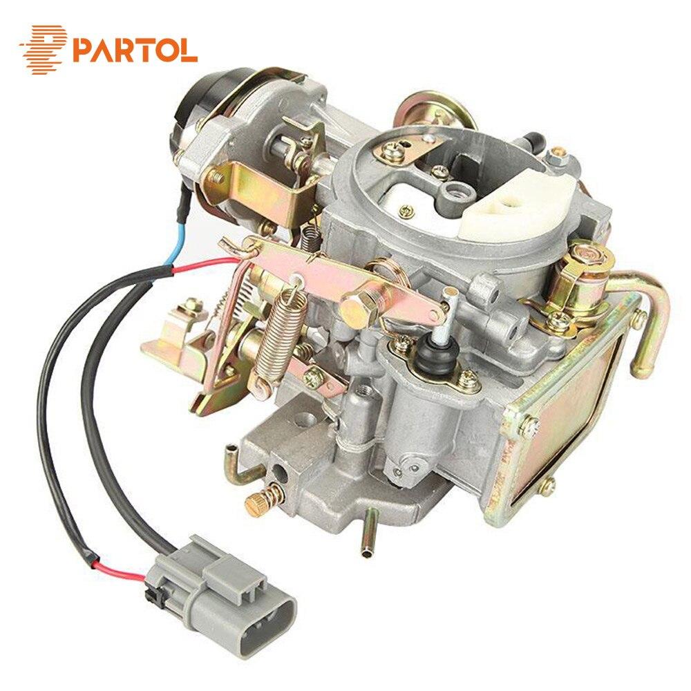 Partol New Car Carburetor Carb Engine Assembly Replacement Parts Auto Carburetor for Nissan 720 pickup 2.4L Z24 engine 1983-1986 carburetor carb for nissan a12 cherry pulsar vanette truck datsun sunny b210 pulsar truck 16010 h1602 16010h1602 16010 h1602