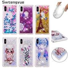 For Coque Xiaomi mi Mix 2S 2 S case Dynamic Liquid Glitter Bling Silicone cover sFor Fundas Phone Cases