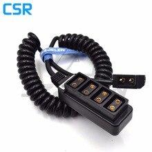 New D Tap Male to 4 Port P Tap Female Hub Adapter Splitter for ARRI/RED/SONY Camera Power Supply Distributor, fourway splitter