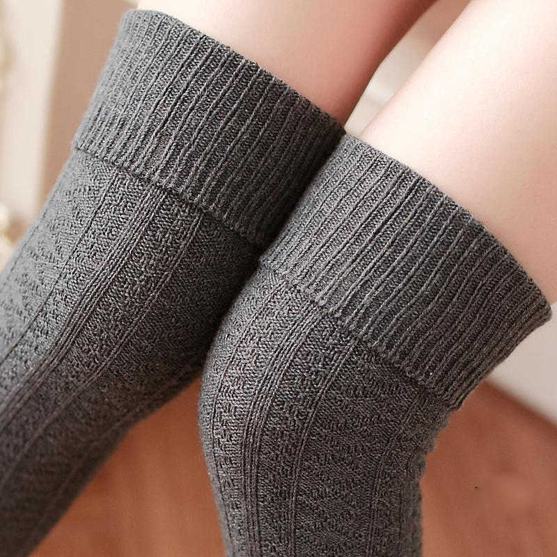 2cc852d8370 ... thickness women high quality needle cotton knee high long high tube  sexy thigh stockings pantyhose hosiery ...