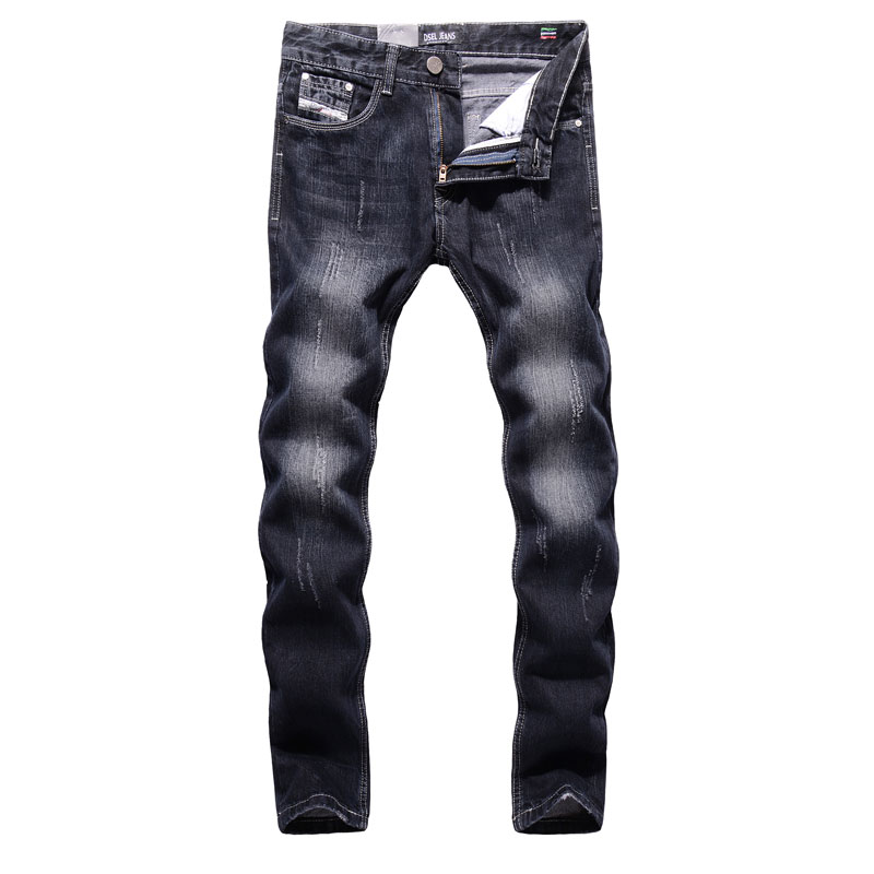 2017 High Quality Dsel Brand Men Jeans Fashion Designer Distressed Ripped Jeans Men Straight Fit Jeans Home,100% Cotton,709-C 2017 new original high quality dsel brand men jeans straight fit distressed ripped jeans for men dsel brand jeans home 604 a