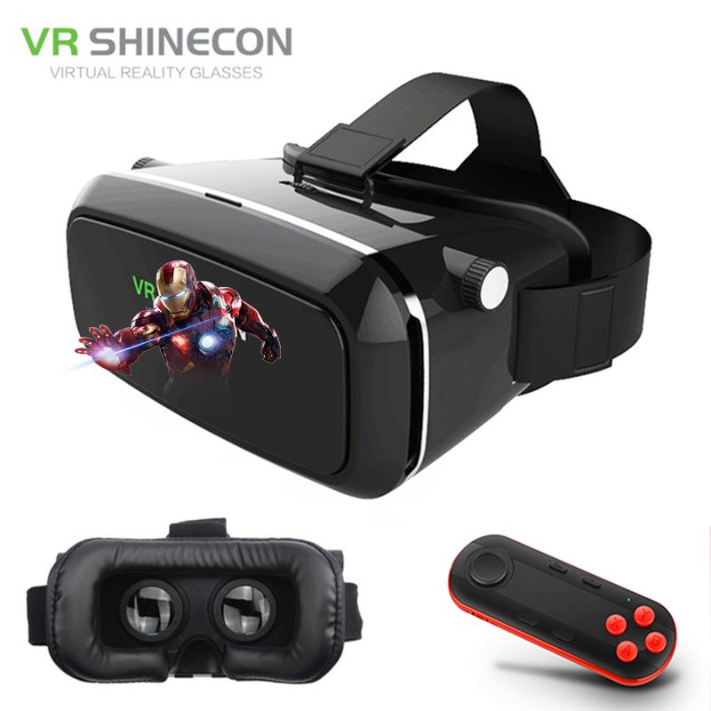 VR Shinecon VR Glasses Virtual Reality VR 3D Glasses 3D Cardboard Virtual Reality VR Glasses Box for 4-6' Mobile Smart Phone