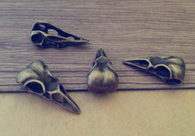 20pcs/lot  (antique bronze and antique silver ) bird head Pendant charm 14mmx31mm