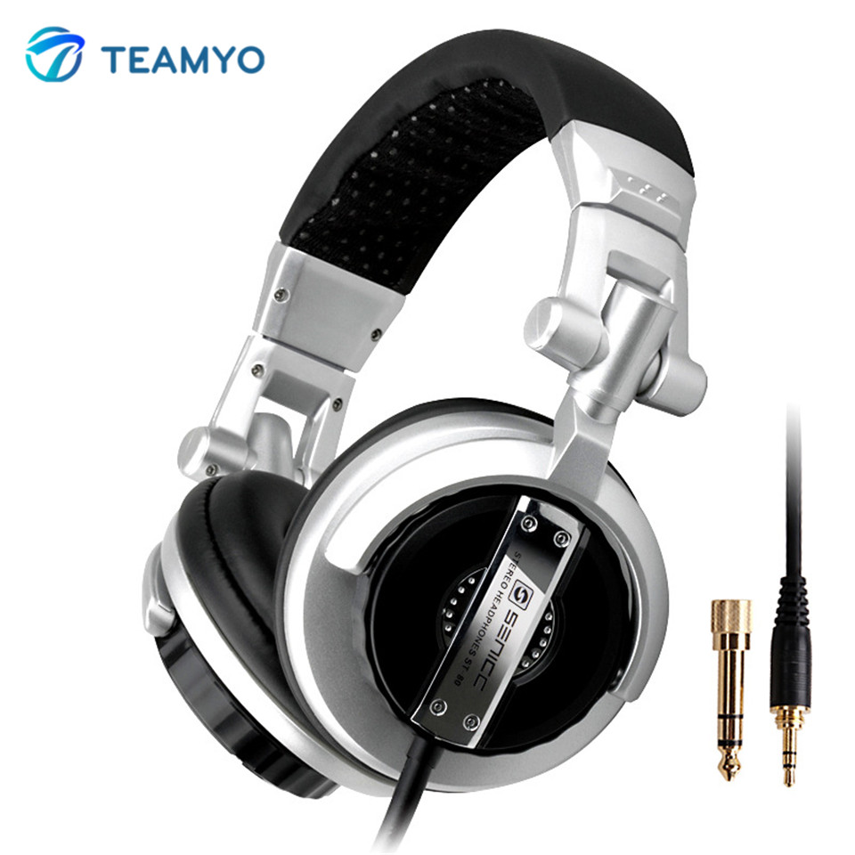 Foldable Pro Music Fever Hifi Monitor Headphones Auriculares Super Bass Noise-Isolating DJ Headset Without Mic Stereo Headphone