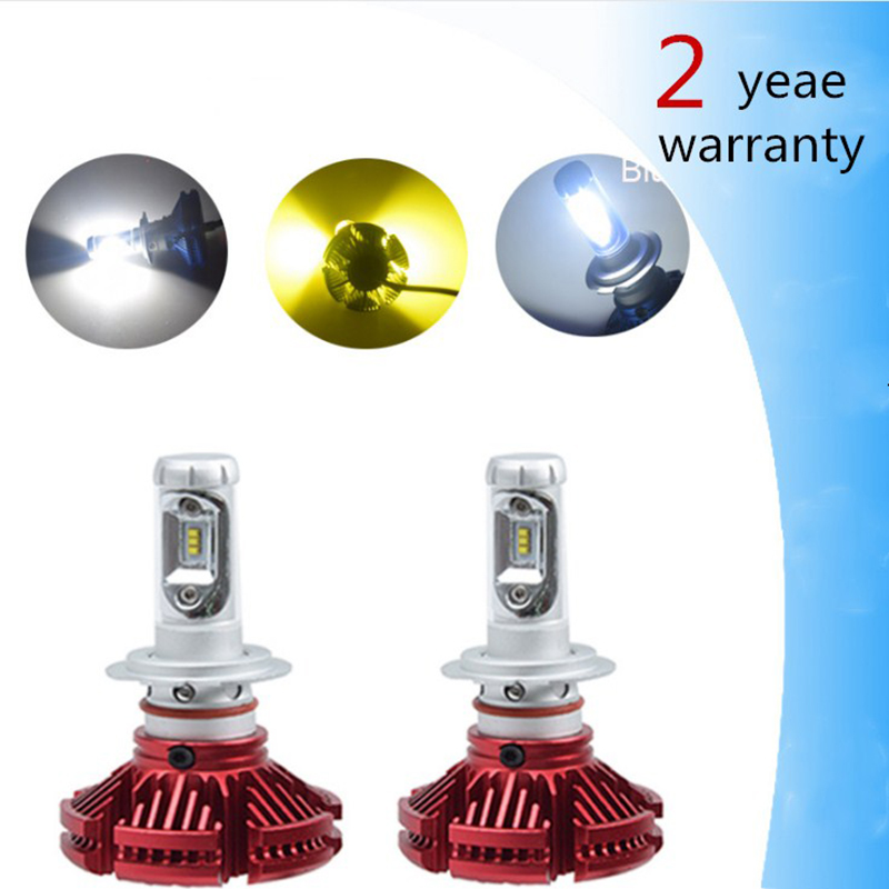 Open-Minded 2pcs H7 Led X3 Car Headlight H4 Led H8/h11 Hb3/9005 Hb4/9006 H1 H3 9012 H13 9004 9007 50w 6000lm Led Bulb 9005 For Citroen C5 Pure And Mild Flavor Car Light Assembly