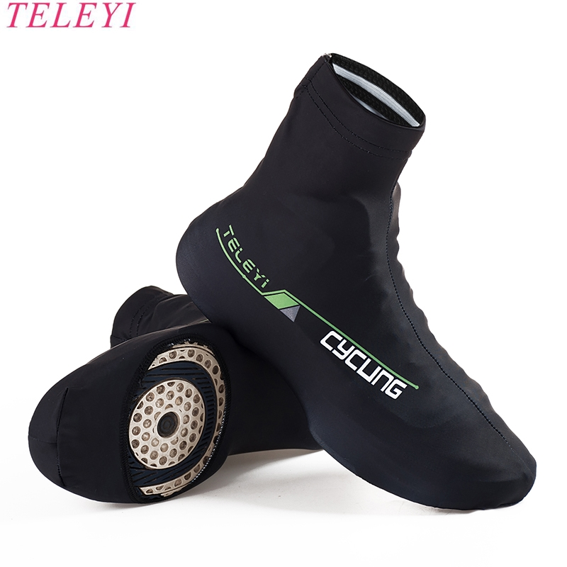 Men women 6 Colors Sports Outdoor Zippered Overshoes Cycling Bike Shoe Covers Windproof Bicycle Protective Shoes Sleeves