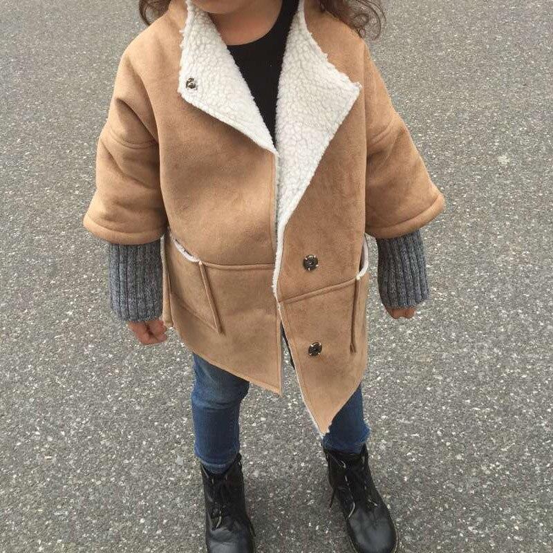 BBK 2016 çocuk giyim bebek kız süet kaşmir Kapşonlu palto Sıcak Ceket Çocuklar kat çocuk kış giyim Kız Parkas