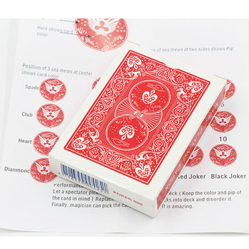 1pcs Marked Poker Cards Magic Props Include English Paper Instruction Close up Street Magic Tricks Magician Gimmick magic english человек семья питомцы