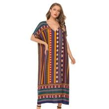 Muslim Womens Nightgown Plus Size V neck Sleepwear Short Sleeve Nightdress Home Dress Fashion Nightwear XXL Big Size Nightshirt