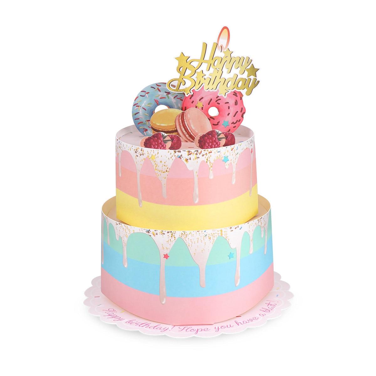 Miraculous Partykindom 3D Birthday Card 2 Layers Cake Pop Up Greeting Funny Birthday Cards Online Kookostrdamsfinfo