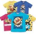 Anpanman T-shirt dos miúdos Crianças Meninos Meninas Algodão Cartoon-manga Curta Imprimir Camiseta Tops Tees Criança Infantil Roupas de Verão