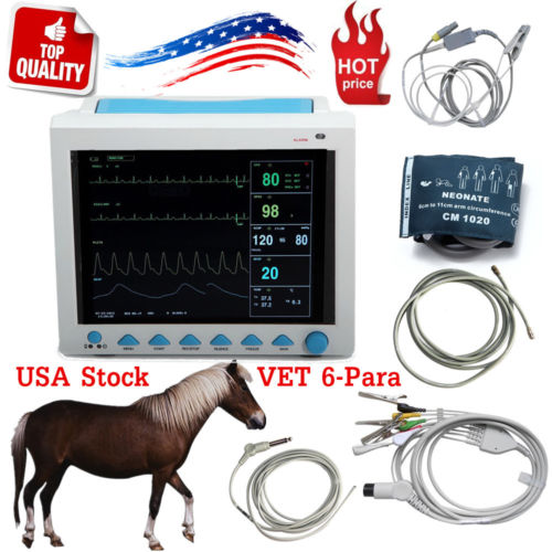CMS8000VET CONTEC VET Veterinary PET patient monitor SPO2 PR NIBP 6 PARAMETERS Multiparameter ICU machine big screen,SALE