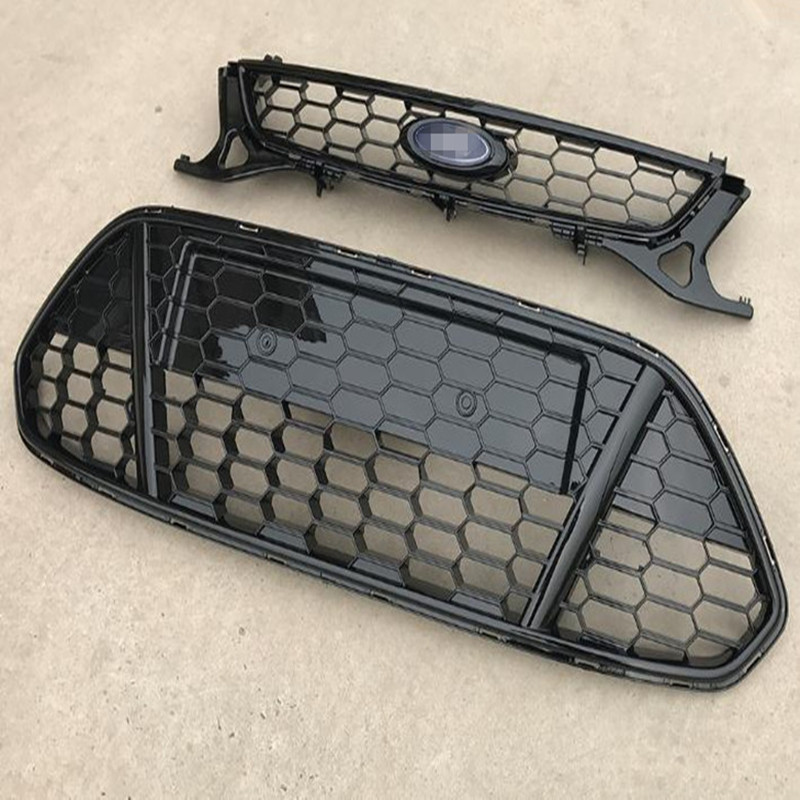 High  Quality ABS Front Bumper Upper and Lower  Grille Fit For Ford Mondeo MK4 2011 2012 2013 abs chrome front grille around trim for ford s max smax 2007 2010 2011 2012