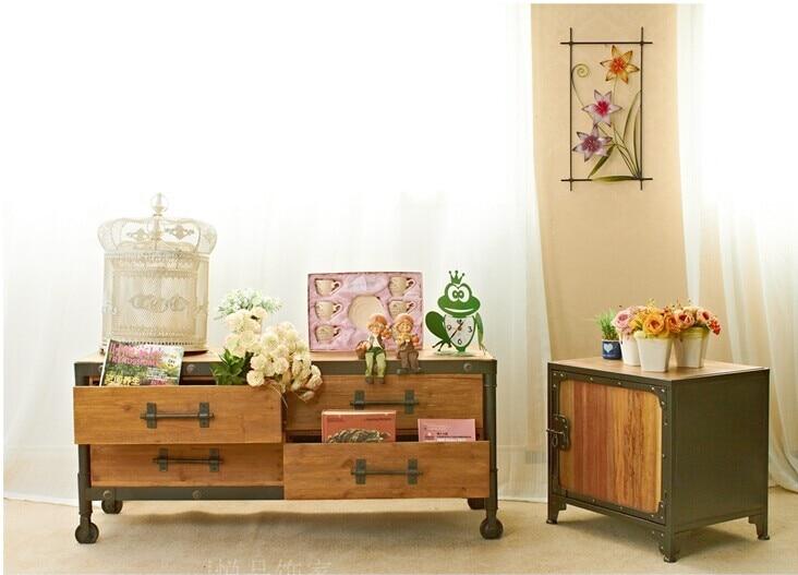 The village of retro furniture,Vintage metal Cabinet,anti rust treatment,long kitchen ca ...