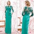 Verde de la gasa de encaje con encanto nueva madre de la novia vestido trajes pantalón tallas madre de la novia vestidos de boda para vestido Formal