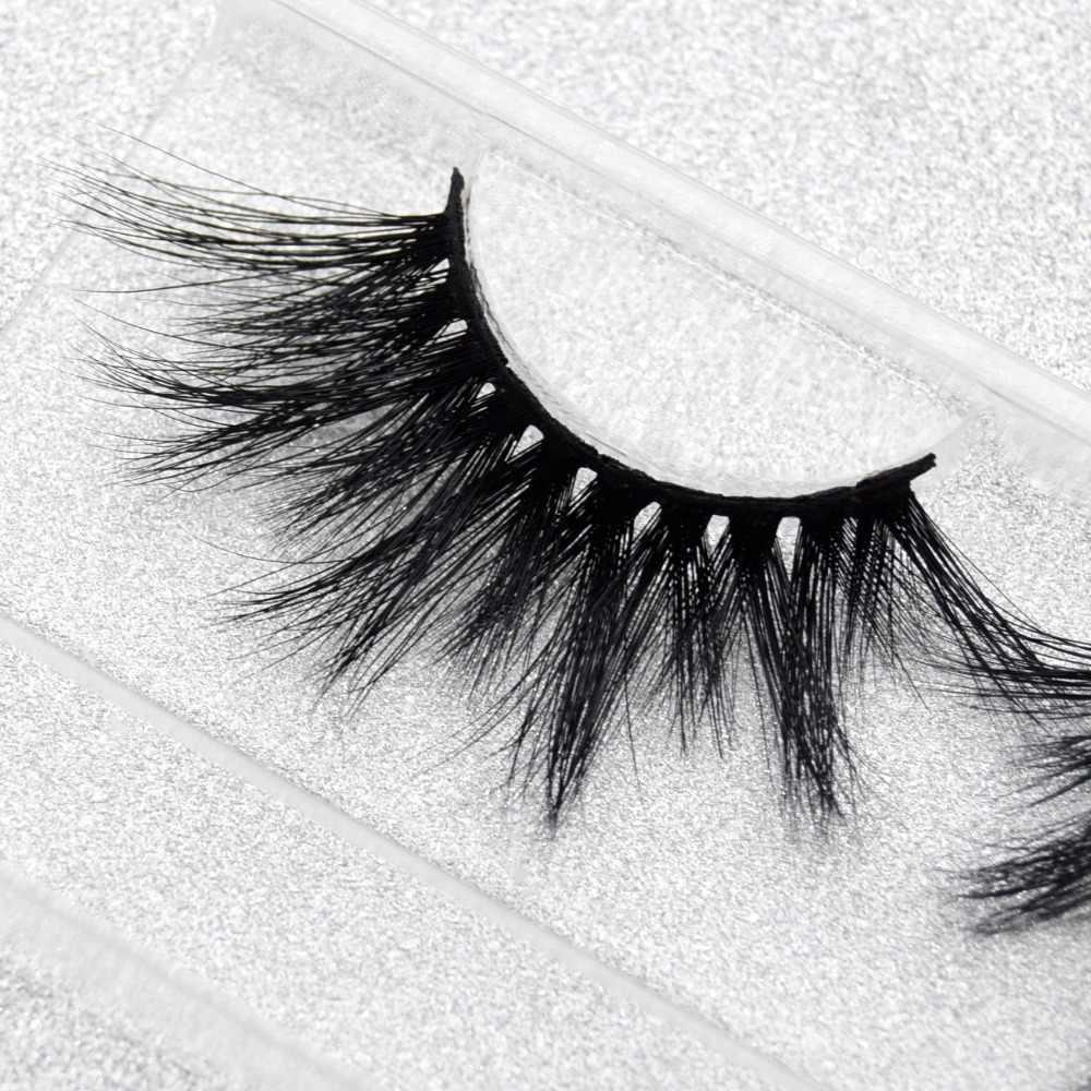 5324bb5078e ... Visofree Eyelashes 25mm 3D Mink Lashes Crisscross Mink Eyelashes  Natural Long Reusable 3D False Eyelashes Full ...