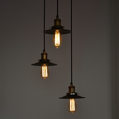 IWHD Edison Retro Loft Style Industrial Pendant Lighting Fixtures 3 Heads Vintage Lamp Hanging Lights Lamparas Colgantes