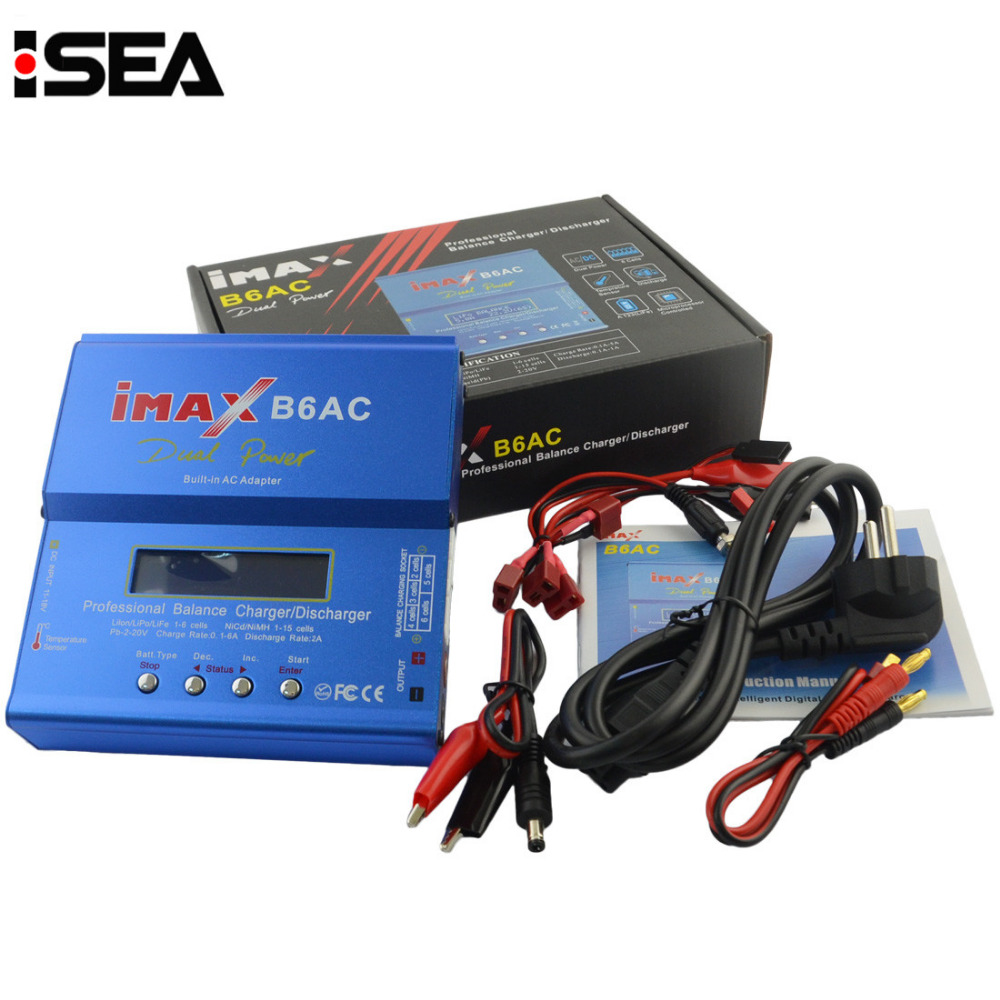 HTRC iMAX B6 AC B6AC 80W 6A Dual RC 50W 5A Balance Battery Charger Lipo Lipo Nimh Nicd Battery With Digital LCD Screen цены