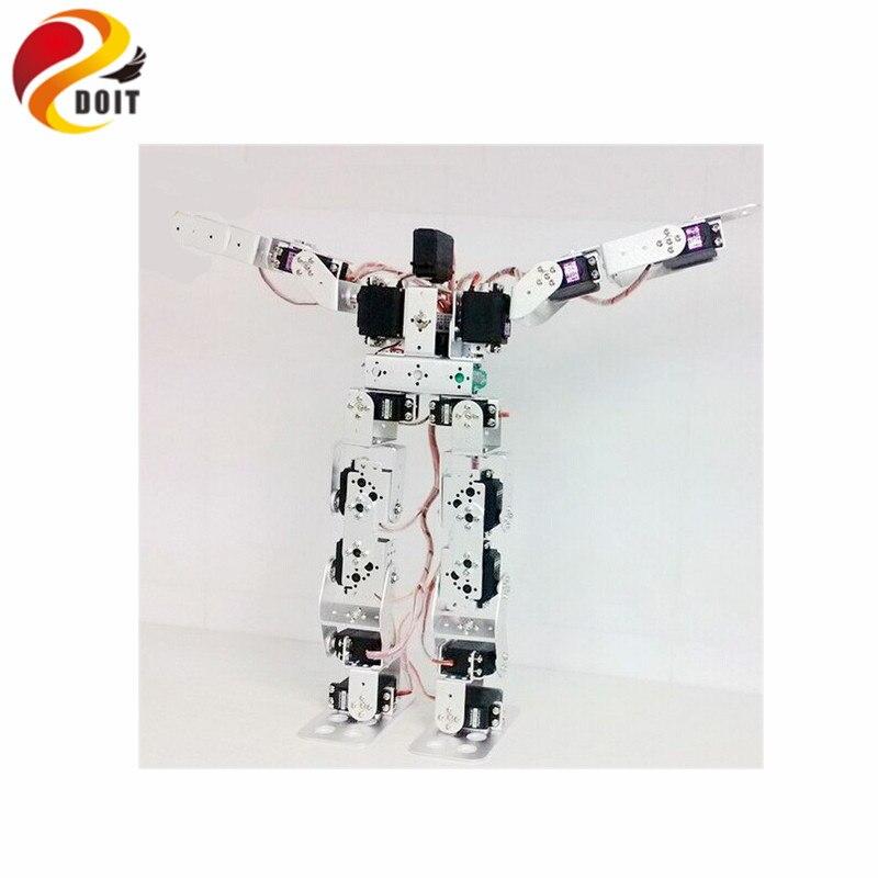 17dof Robot humanoïde bras Robot éducatif mécanique ensemble complet Robot