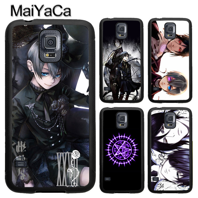 ad1208b00c US $2.78 10% OFF|MaiYaCa Anime Black Butler Ciel Phantomhive TPU Phone Case  Cover Coque For Samsung S4 S5 S6 S7 edge S8 S9 plus Note 8 5 4 Capa-in ...