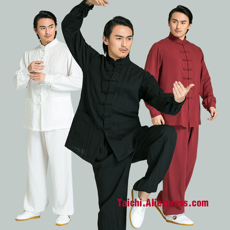 Men's Powerful Kung Fu Style Cotton/Linen Chinese Matching Set Handmade Linen Tai Chi Uniform Wushu, Kung Fu,martial Art Suit