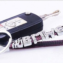 Custom Leather Keyring Car Licence Numbers Keychain DIY With Slide Rhinestone  Letters Numbers Charms 17f9ef797259