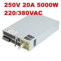 5000W 250V 20A adjustable power supply 0 250V 250V20A AC DC High Power PSU 0 5V analog signal control DC250V Power 220/380VAC