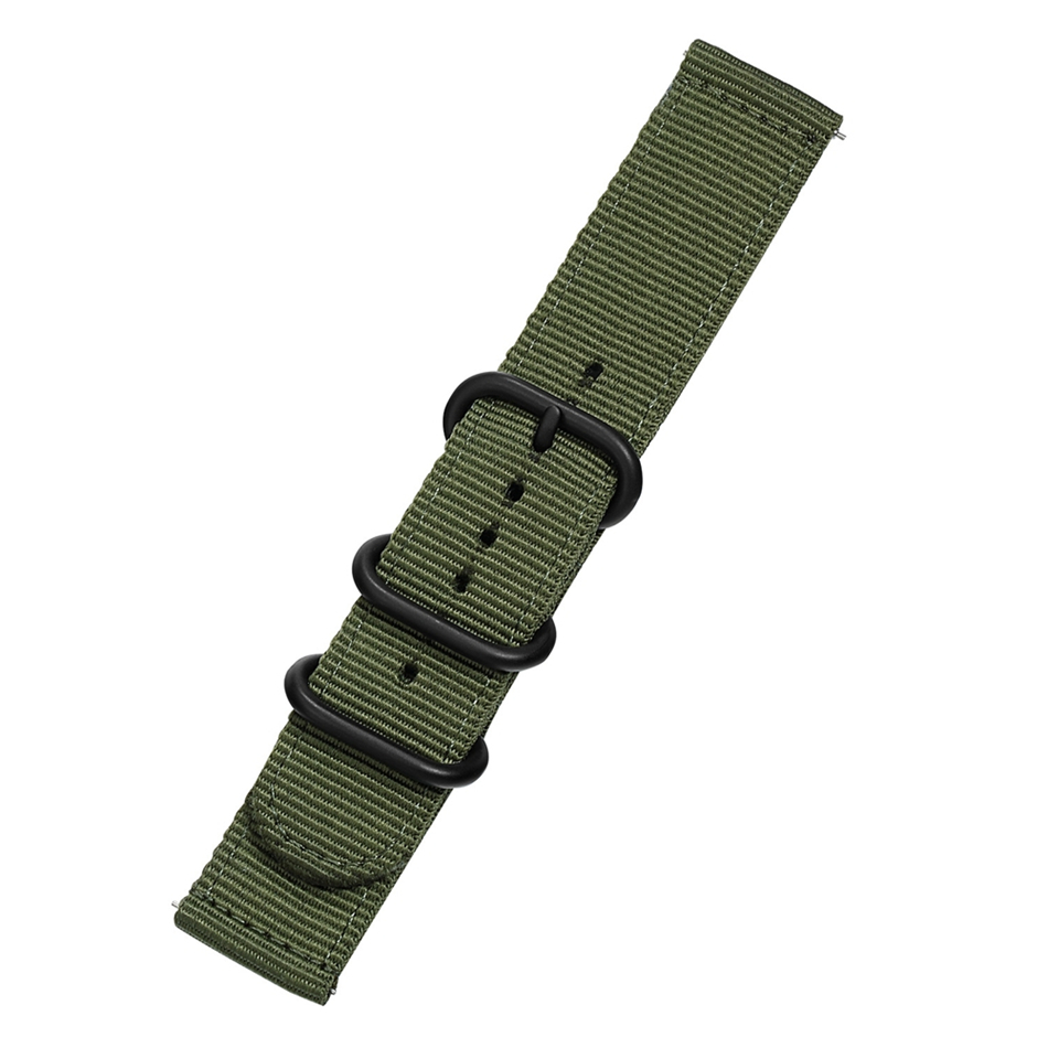 Canvas Nylon Wristband Strap For Xiaomi Amazfit Stratos 2 Pace Straps For Amazfit Bip Watch band For Samsung Gear S3 S2 Bracelet07