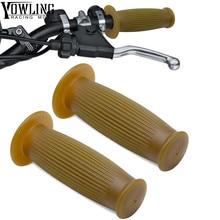 7/8 Handle Bar Retro Rubber Motorcycle Bike Vintage Coke Bottle Hand Grip For HONDA FSC600 D GL1800 VT750 C2B XR600R VFR750 F