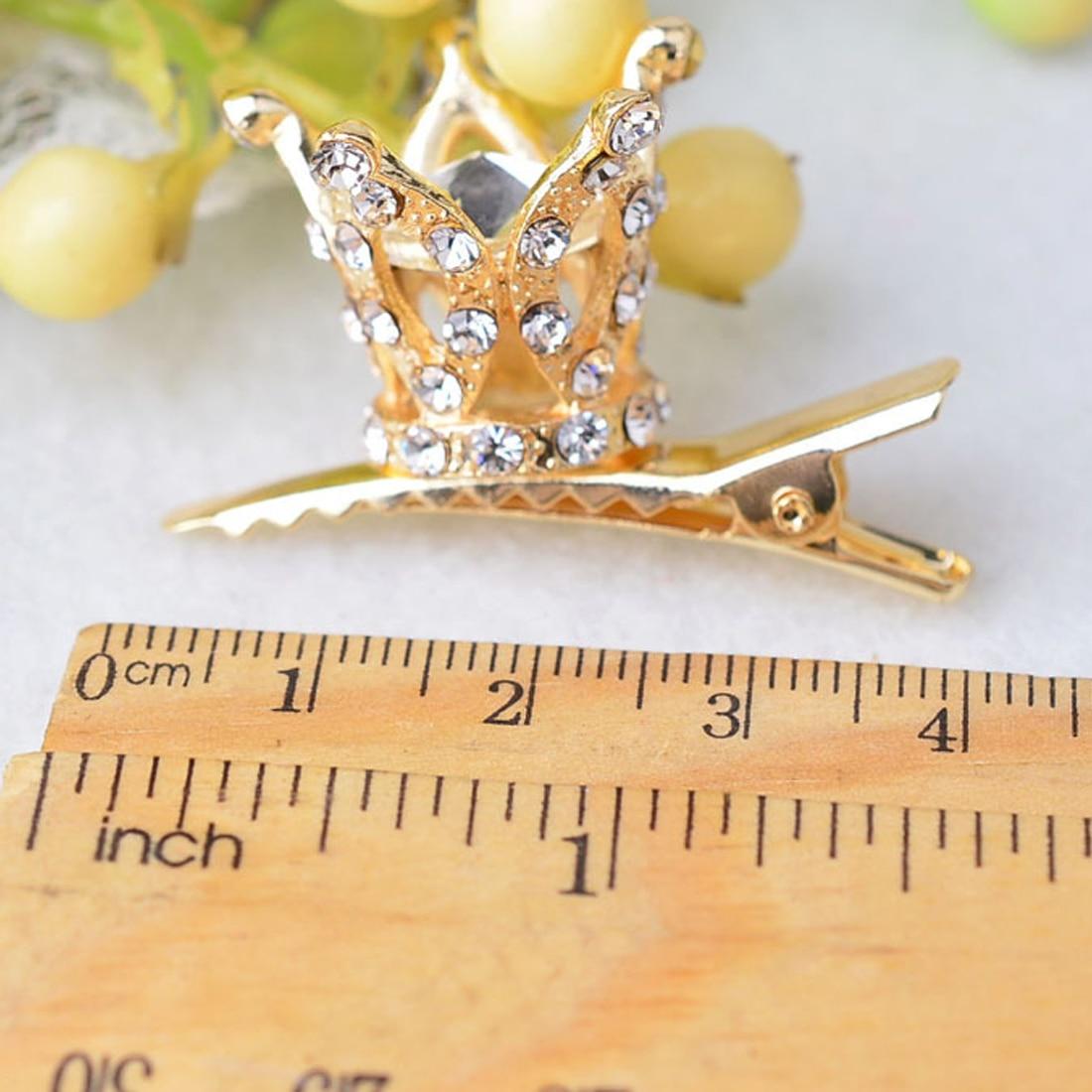 Fashion Children Girl hair accessories Cute hair clips Shiny Rhinestone Crystal crown hairpin barrettes Princess