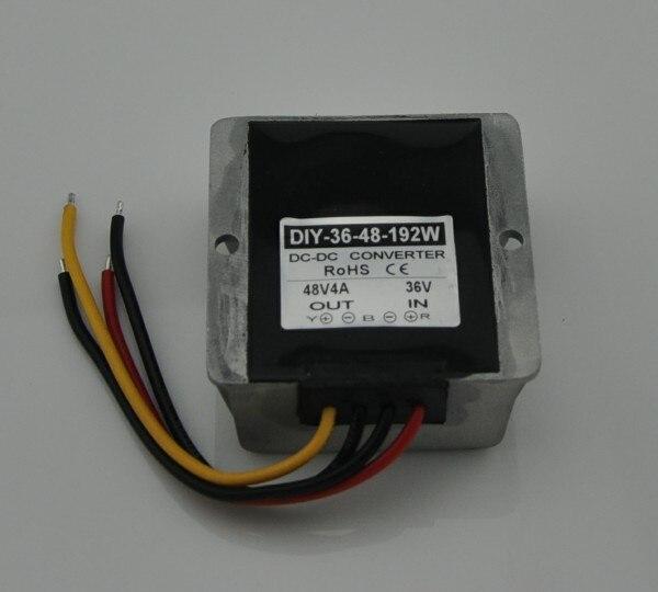 36V (25V-48V) Step Up 48V 4A 192W DC DC Converter Waterproof Boost Module Power Supply Adapter Voltage Regulator 24v to 48v 40a dc dc converter regulator car step up boost module switching power supply on board